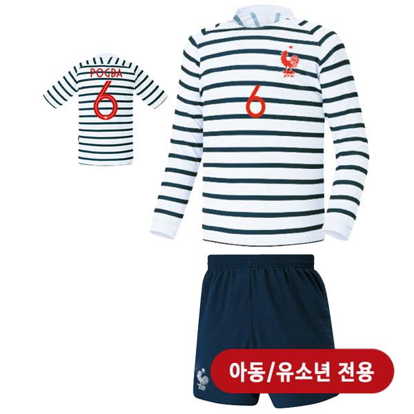 프랑스 져지형 18-19 축구유니폼 셋트 [풀마킹/번호/이니셜] <BR>★아동/유소년용★<BR>UTU284