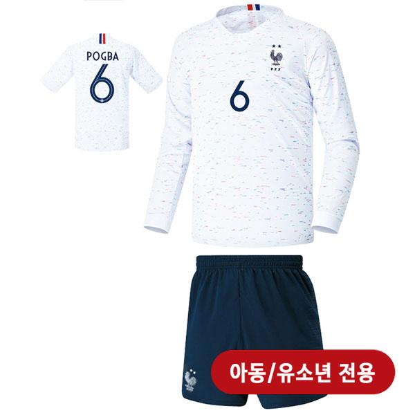 프랑스 어웨이형 18-19 축구유니폼 셋트 [풀마킹/번호/이니셜] <BR>★아동/유소년용★<BR>UTU292