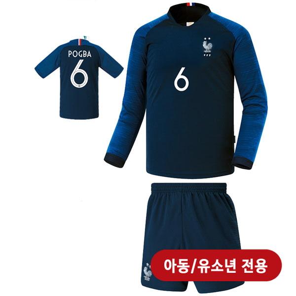 프랑스 홈형 18-19 축구유니폼 셋트 [풀마킹/번호/이니셜] <BR>★아동/유소년용★<BR>UTU294