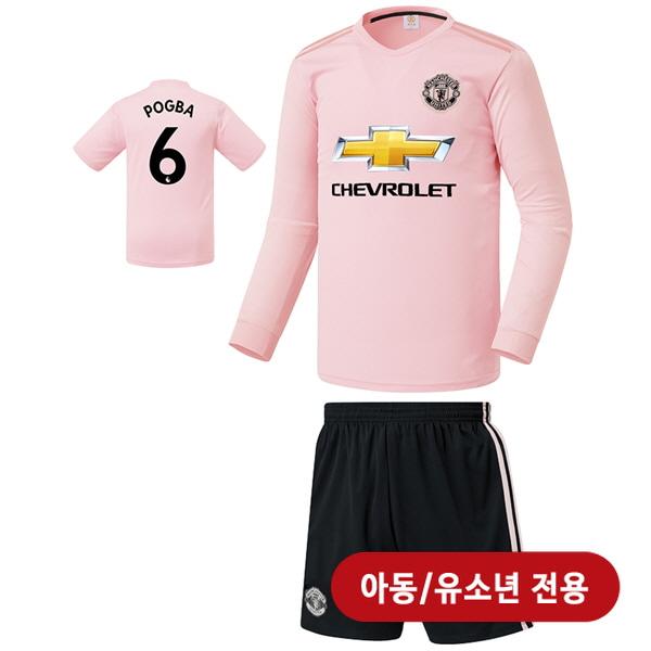 맨유 어웨이형 18-19 축구유니폼 셋트 [풀마킹/번호/이니셜] <BR>★아동/유소년용★<BR>UTU319