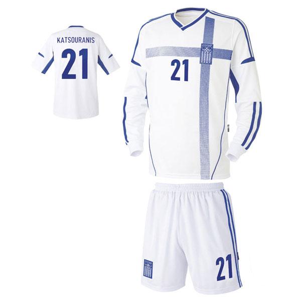 그리스 홈형 축구유니폼 셋트 [풀마킹/번호/이니셜] UTU332