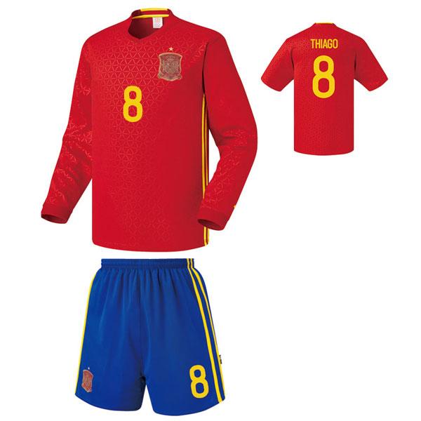 스페인 홈형 16-17 [풀마킹/번호/이니셜] 축구유니폼 셋트 기능성원단 UTU355