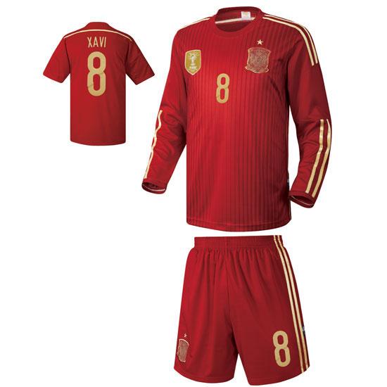 스페인 홈형 14-15 축구유니폼 셋트 [풀마킹/번호/이니셜] UTU360