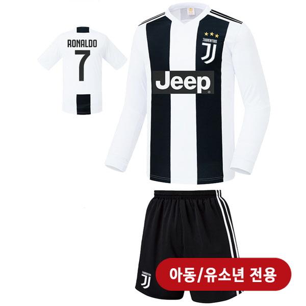 유벤투스 홈형 18-19 축구유니폼 셋트 [풀마킹/번호/이니셜] <BR>★아동/유소년용★<BR>UTU363