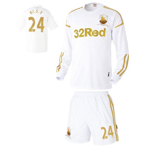 스완지시티 홈형 12-13 축구유니폼 셋트 [풀마킹/번호/이니셜] UTU432