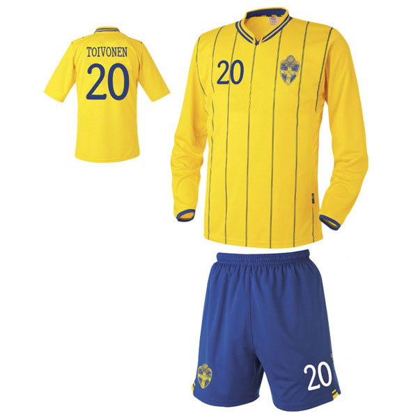 스웨덴 홈형 축구유니폼 셋트 [풀마킹/번호/이니셜] UTU447