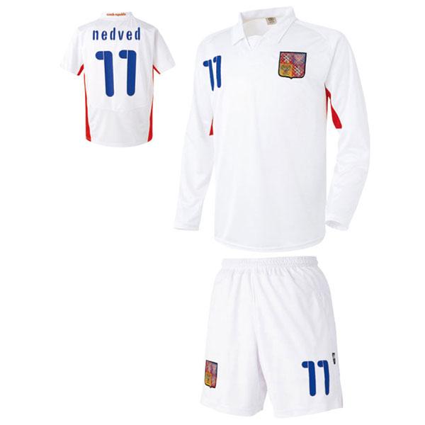 체코 어웨이형 축구유니폼 셋트 [풀마킹/번호/이니셜] UTU922